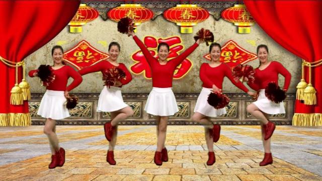 新年花球舞《财神驾到》美丽时尚又发大方!