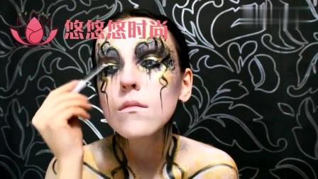 创意妆容,十二星座,蛇夫座,主题妆容教程!好个性啊!