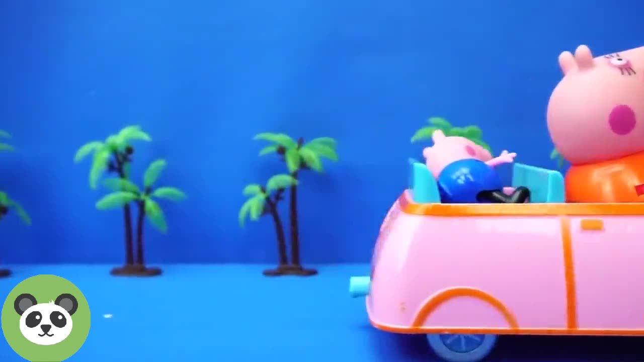 猪妈妈开车把乔治带回家,益智玩具