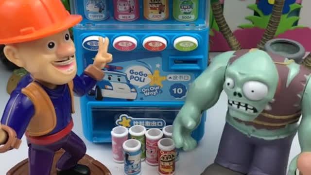 巨人僵尸卖饮料,光头强把巨人僵尸绕晕了,巨人僵尸又卖亏了!