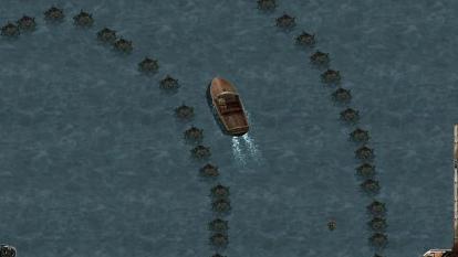 盟军敢死队2隐藏关二:水上汽艇拉力赛,这么多水雷不敢开呀