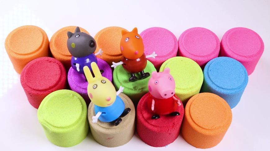 小猪佩奇第四季:小猪佩奇太空沙玩具多彩动力沙跳跳 小猪佩奇