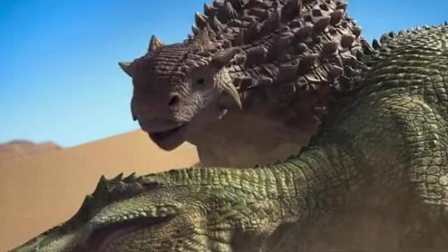 """【恐龙王】两只恐龙掉入""""沙漠沼泽"""""""